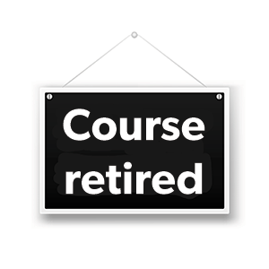Sign explaining this Apple training course has been retired