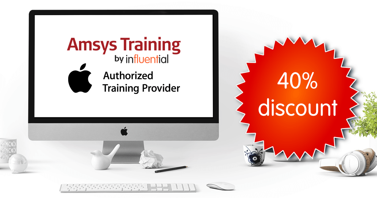 Official Apple online training represented by Amsys Training and AATP logos on Apple monitor