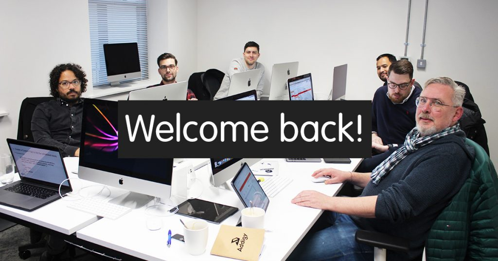 A photo of our classroom, indicating that our London Apple training centre is reopening