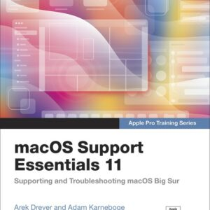 macOS Support Essentials 11 course book cover